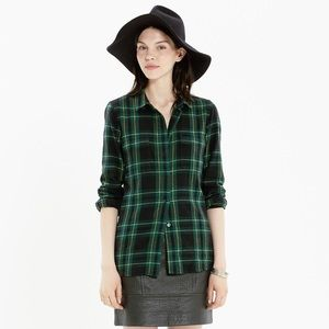 Madewell Flannel Boyshirt in Barlow Plaid Medium